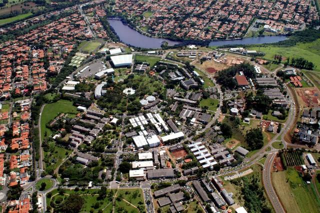 Vista aérea da Unicamp foto: Atoninho Perri
